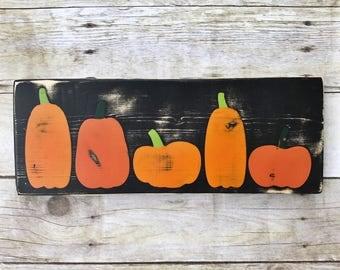 PUMPKINS! Ready to Ship sign, fall sign, halloween sign, pumpkin sign, autumn sign, thanksgiving decor, harvest decor