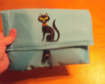 Turquoise Clutch Purse/Bible Carrier 098