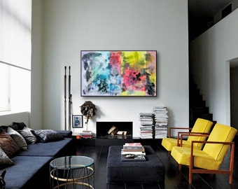 Modern Abstract Painting ,Acrylic Wall Decor,contemporary Home Decor, original Painting
