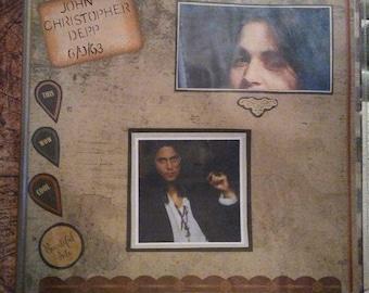 Johnny Depp Homemade Scrapbook, Music, Acting, Actor