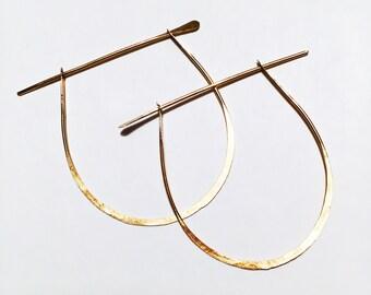 Primitive Gold Hoop Earrings