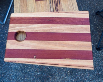 Recycled hardwood serving board
