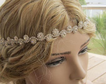 Rhinestones headband, bridal headband, wedding headband, bridal headpiece, accessories