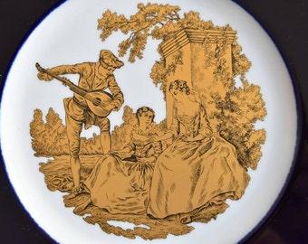 Plate vintage Heinrich Germany dessert plate german porcelain plate illustrated stencil plate