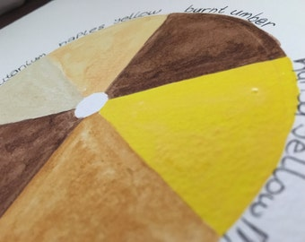Daniel Smith Watercolors - Yellows, Orange & Browns - Hand poured half pan Paint