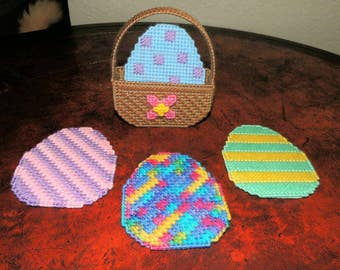 Easter Egg Coaster Set