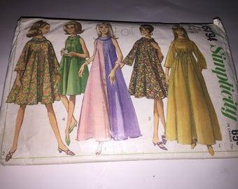 Vintage 1950's SIMPLICITY #6794 Long and Short Dress Sz 12