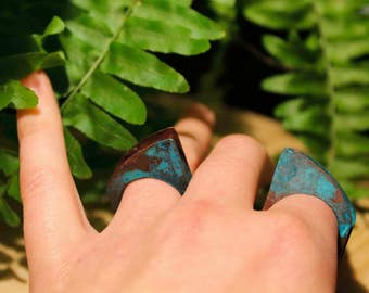 Patinated rings. Love token. Jewelry set for her. Architecture ring. Geometric jewelry. Gift for her. Minimalist jewelry. Boho jewelry ideas