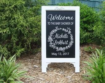 Framed Chalkboard, Wedding Signs Rustic, Wedding Signs Wood, Bridal Shower Decorations, Chalkboard Easel, Wedding Signs Chalkboard