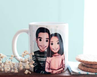 Cup personalized 2 people