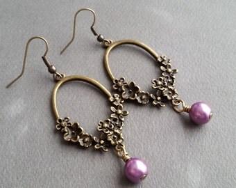Lilac Boquets . Earrings
