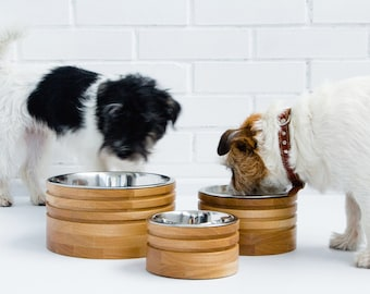 Pet bowls made of ash wood