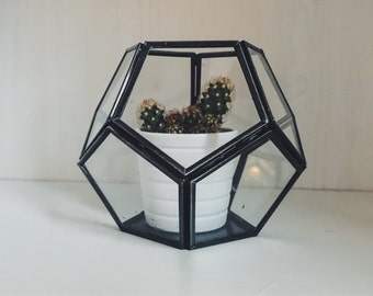 Hexagonal Glass Candle Holder