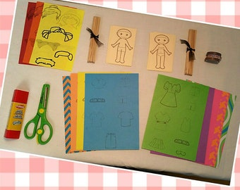 DIY Paper Dolls Kit