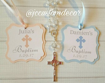 Personalized Baptism Christening Favor Tags-Baptism Favor Tags-Mi Bautizo Favor Tags-Mi Bautizo Tags-Baptism Christening Favor Tags-Setof10