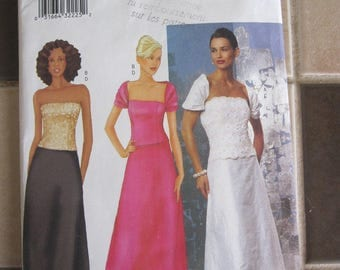 PATTERN Butterick 6766 evening gown. Ballroom size woman: 12 to 16 years
