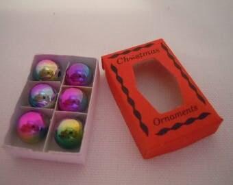 Miniature Christmas Ornaments ~ Boxed Ornaments ~ Tree Decoration ~  Holiday Decoration ~ Miniature ~ Fairy garden ~ Dollhouse