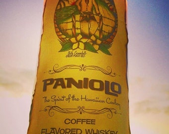 Soy Candle in Upcycled Paniolo Hawaiian Whiskey Bottle
