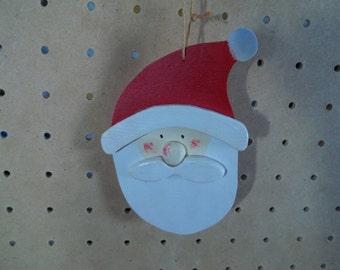 Hand Painted & Handmade Santa Ornament