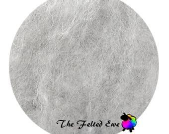 Needle Felting Wool Batt / NR6 Arctic Fox Carded Wool Batt