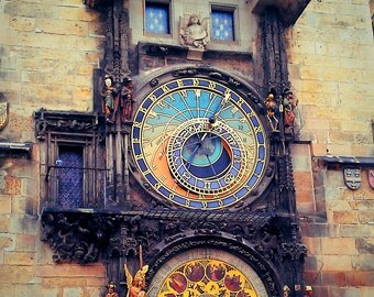 Clock in Prague, Czech Republic