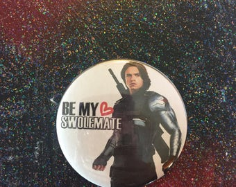Bucky Barnes Winter Soldier Be My Swolemate Pinback Button
