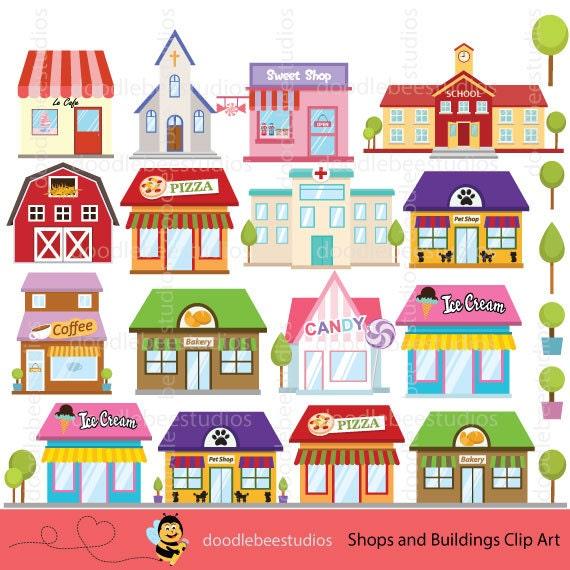 Restaurant building clipart  Shops Clipart Buildings Clipart Shop Clipart Building Clip