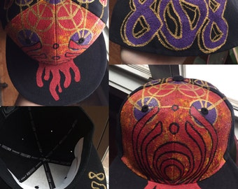 Custom painted hat