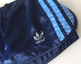 1980s ADIDAS RACER NYLON Made in West Germany Vintage Gym Shorts
