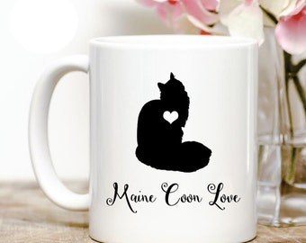 Maine Coon Cat Love Coffee Mug