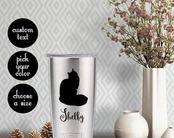 Maine Coon Cat Decal with customizeable name text