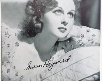 Susan Hayward  Vintage B/W 5x7 Photographic Print