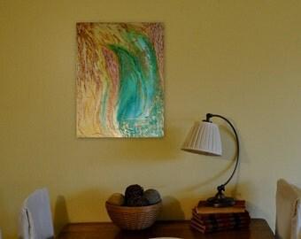 GOLD - Original - Acrylic on canvas - ENERGY ART by Ingrida