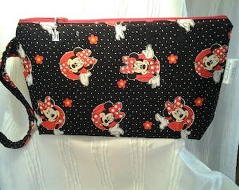 Disney bag, Mouse bag, Minnie mouse bag, Project bag, Crochet bag, Travel bag