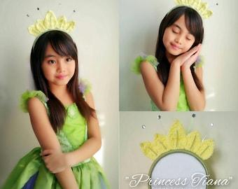 Princess tiana headband, disney princess hair accessories, tiana headband, baby girl headband, tiana baby to adult headband,hair accessories