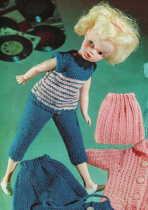 PDF Vintage Sindy Barbie Doll Clothes Knitting Pattern Dress Barbie fashion d...