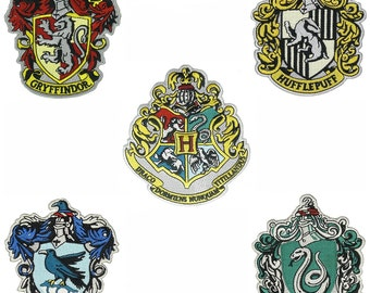 Harry Potter Hogwarts Set of 5 Patches High Quality Iron/Sew On Free Shipping