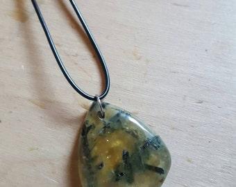 Large Moss Quartz Necklace