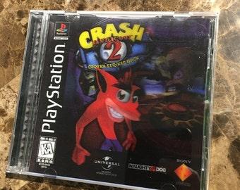 PS1 Crash Bandicoot 2 Halogram cover RARE