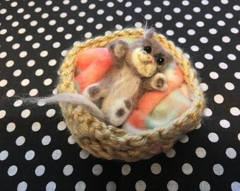 Playful Felted Kitty
