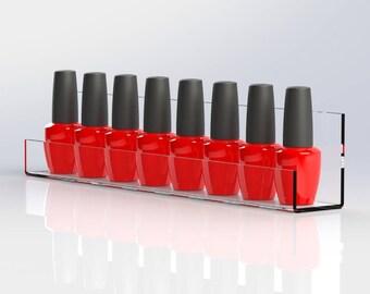 Nail Polish Display Shelf | Single Nail Varnish Rack | Nail Product Display Holder | Gel Nail Polish Rack | Premium Acrylic | Made in the UK