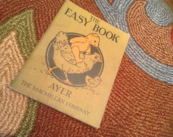 Vintage Beginning Reader, The Easy Book by Jean Ayer