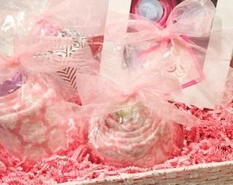 Baby Girl Gift Basket, Baby Shower Gift, New Baby Gift, Baby Girl Gift