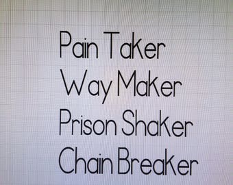 Chain Breaker Decal