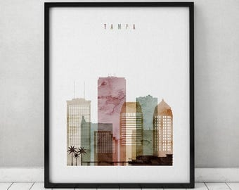Tampa poster etsy Home decor tampa