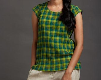 Autumn Leaves Button Top