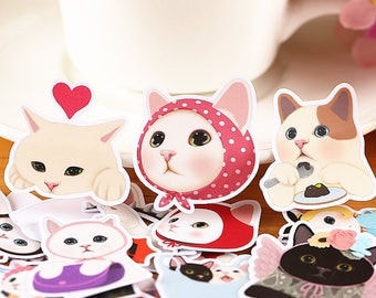 Fairytale Cats (26 pcs) // Die Cut Stickers // N9 // Planners //  Laptop Stickers  // Scrapbooking Essentials
