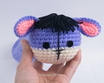 Crochet eeyore pen Holder, eeyore pencil Holder, crochet bowl, home office decor, pencil Holder, Pencil case