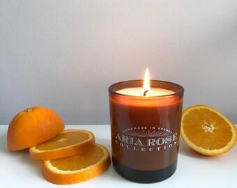 Orange & Bergamot Scented Soy Candle - 9 oz