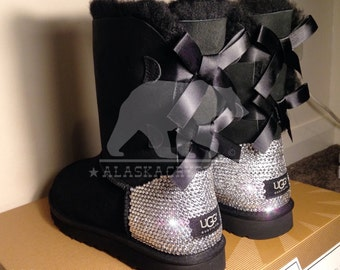 Child bailey bow UGG® With Swarovski Crystals, Customised UGG®, Bespoke Uggs, Rhinestone Uggs, Bling Uggs, Crystal Uggs, Toddler uggs